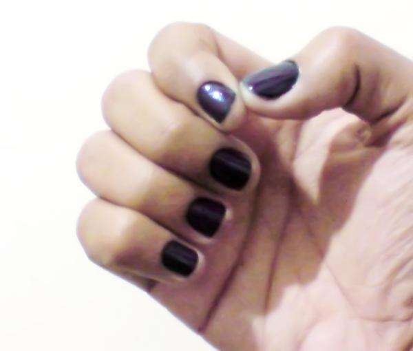 unha azul+black